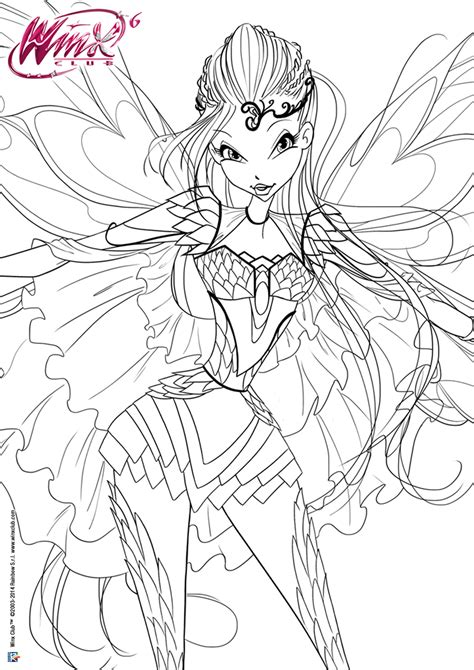 winx bloomix coloring pages