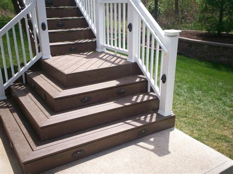 Platform Stairs Design Deck Stairs 45 Degrees Corner Deck Design And Ideas
