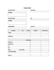 blank payroll stub fill online printable fillable