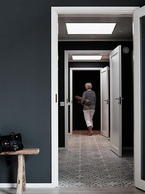 Dark Gray Dining Room home tour finnish home interior with unusual dark walls