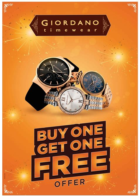 giordano time wear buy one get one free offer ad advert
