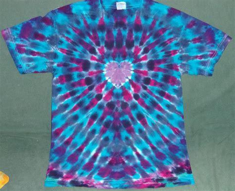 heart pattern tie dye new tie dye small aaa alstyle tshirt blue red purple heart