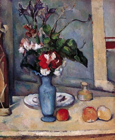 Paul Cezanne The Blue Vase by The Blue Vase Painting Of Paul C 233 Zanne As Print