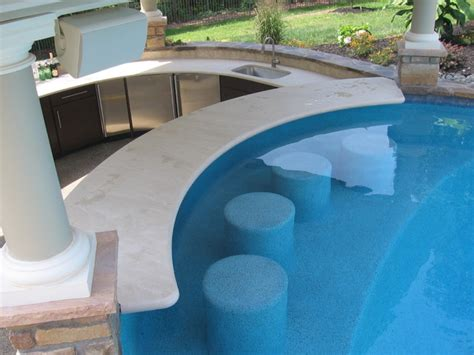 pool house with bar pool pool house and swim up bar contemporain terrasse