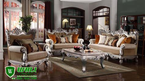 Sofa Elegan sofa ruang tamu silver klasik elegan ukir mebel jepara