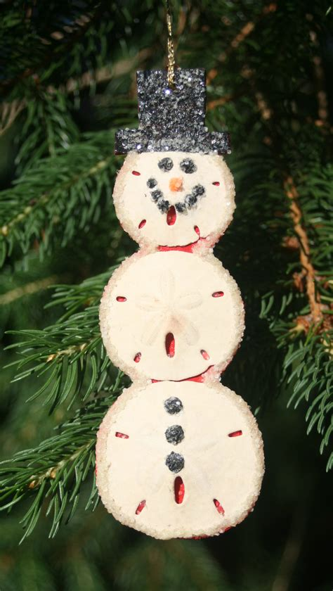 sand dollar snowman christmas ornament homemade
