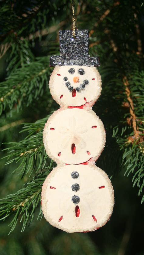 sand dollar snowman christmas ornament homemade
