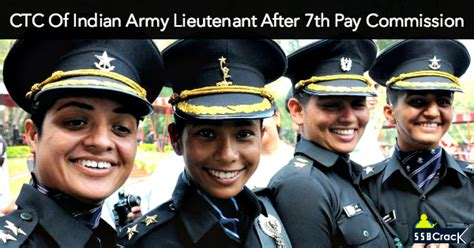 7 pay commission indian army ctc of indian army lieutenant after 7th pay commission