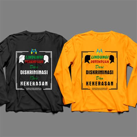 T Shirt Kaos Lengan Panjang Enjoy Supreme Logo sribu office clothing design desain kaos lengan p