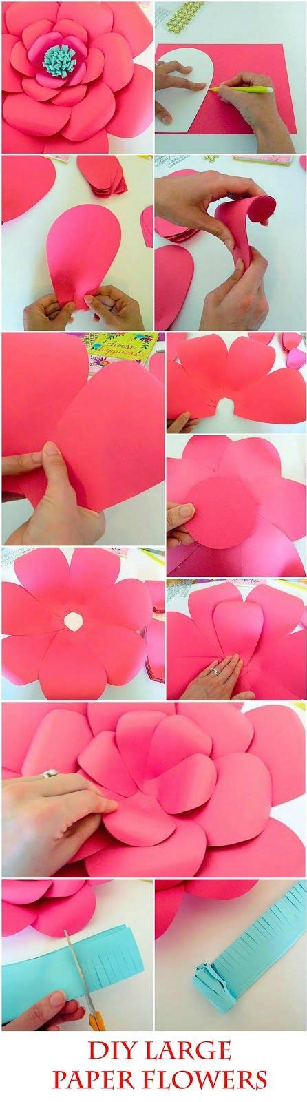 paper flower tutorial pinterest diy giant paper flowers easy backdrop flower tutorial