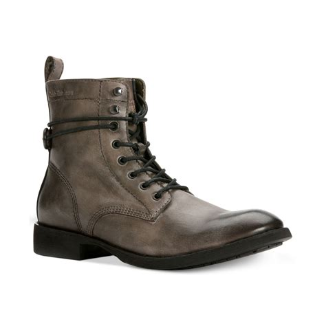 grey motorcycle boots lyst calvin klein jeans hewett 2 motorcycle boots in