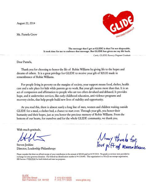 bunch ideas of free donation thank you letter template with sample