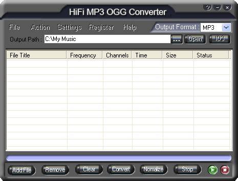format audio ogg hifi mp3 ogg converter convert mp3 to ogg converter