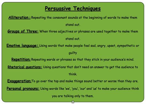 8 Techniques For Being Persuasive by Reremoana Room 11 Persuasive Writing Persuasive Techniques