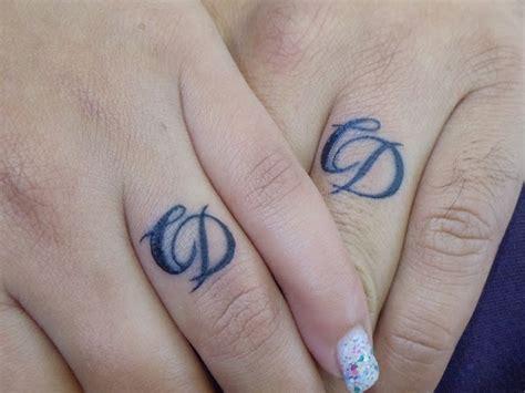 diamond tattoo with initials 55 wedding ring tattoo designs meanings true