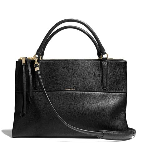 Coach Pebbled Leather Bag by Coach Borough Bag In Pebble Leather In Black Li Black Lyst