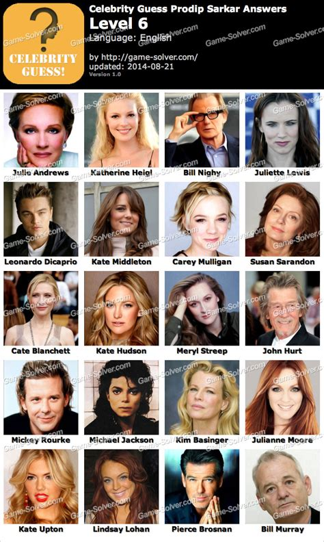 guess the celebrity celebrity guess prodip sarkar level 6 game solver