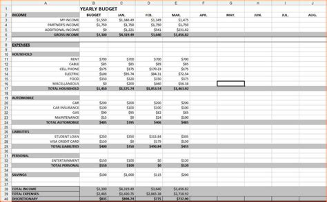budget vs actual excel template budgeting spreadsheet template haisume