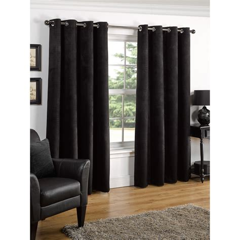 black curtains eyelet b m valencia textured premium blackout eyelet curtain 66 x