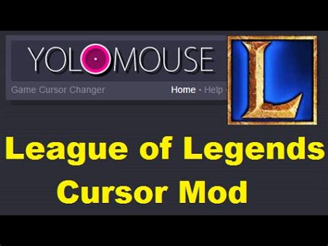 youtube tutorial league of legends yolomouse cursor mod tutorial league of legends youtube