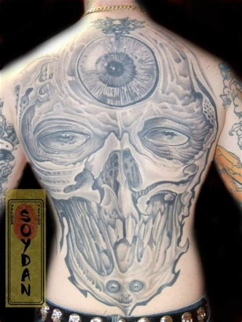 yakuza head tattoo fantasy skull back tattoo by yakuza tattoo