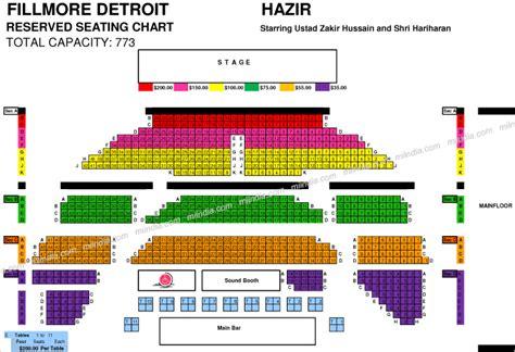 fillmore seating the fillmore detroit seating chart fillmore detroit