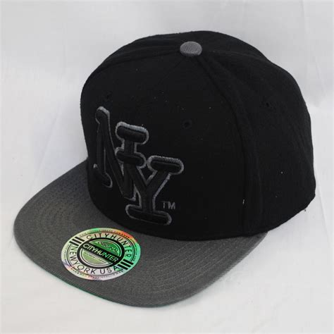 Ny Gb Cap Snapback city ny new york large logo wool snapback hat cap ebay
