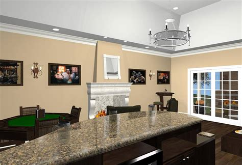 room design builder bonus room designs with fireplace wet bar and wine room new jersey