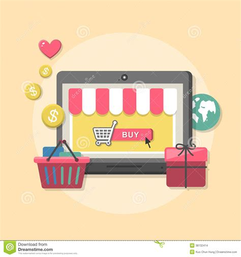 shopping ideas flat design concept with icons of shop ideas symbol