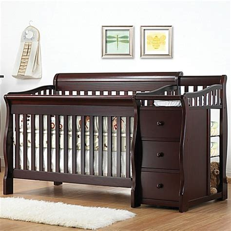 Sorelle Tuscany 4 In 1 Convertible Crib And Changer Combo Sorelle Tuscany 4 In 1 Convertible Crib And Changer In Espresso Buybuy Baby