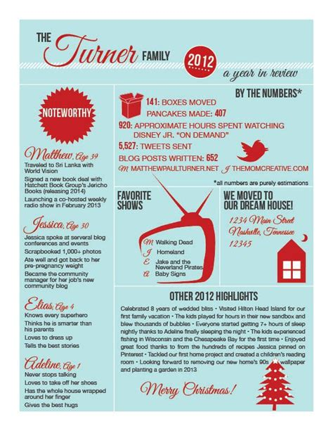 infographic christmas letter christmas letter template