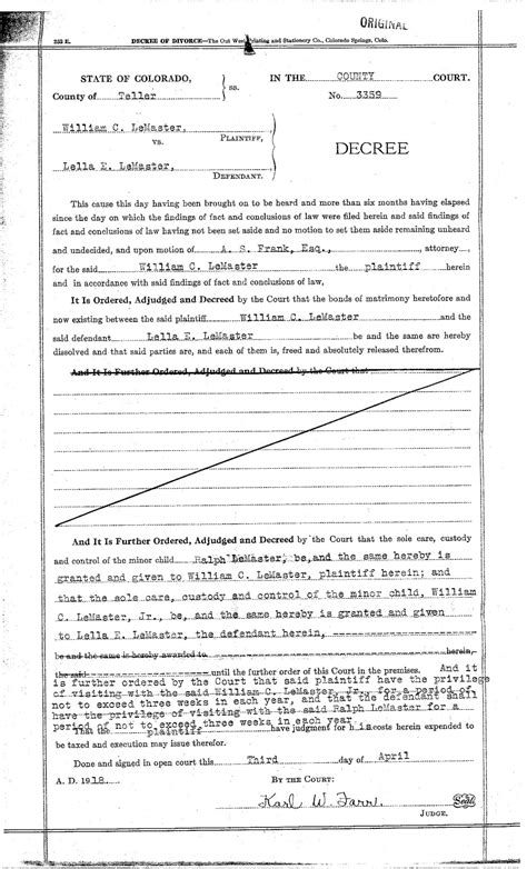 section 4 annulment application blank divorce papers