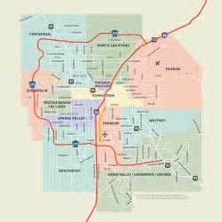 Las Vegas Map by Neighborhoods Districts Las Vegas