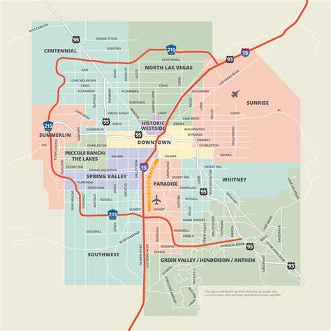 map of downtown las vegas maps las vegas
