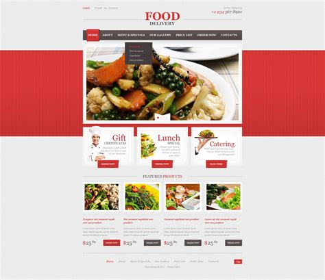 templates for catering website catering responsive website template 44196