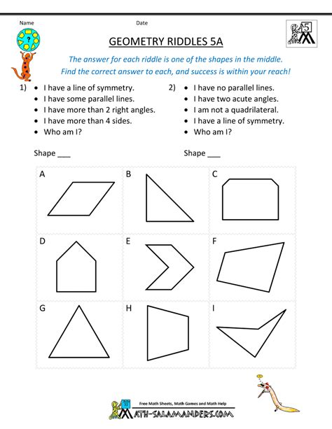 geometric pattern worksheets for 5th grade math worksheets geometry grade 5 grade 5 geometry math