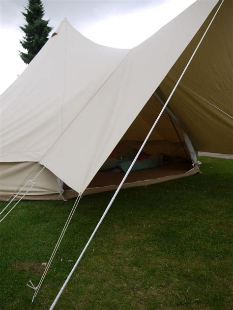 canvas tent awning canvas awning by bell tent boutique ebay