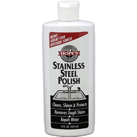 stainless steel wax hopes stainless steel polish 8oz
