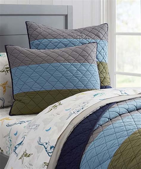 boys coverlets boys stripe quilt stripe block quilted bedding