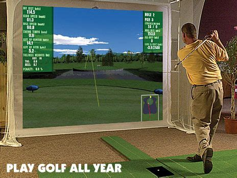golf swing simulator golf simulator and swing analyzer by par2pro p3proswing