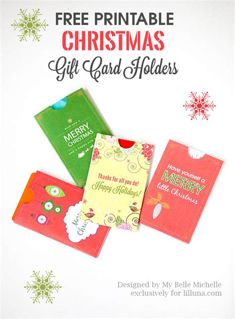 Free Printable Christmas Gift Card Holders - free holiday gift card holder printables