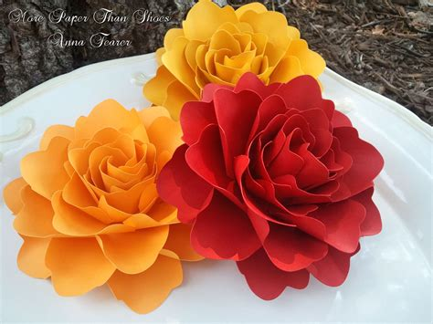 Www Paper Flowers - paper flowers wedding decorations x large handmade roses