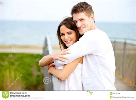 Free For Couples Hugging In The Park Royalty Free Stock