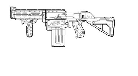 nerf gun colouring pages coloring beach screensavers
