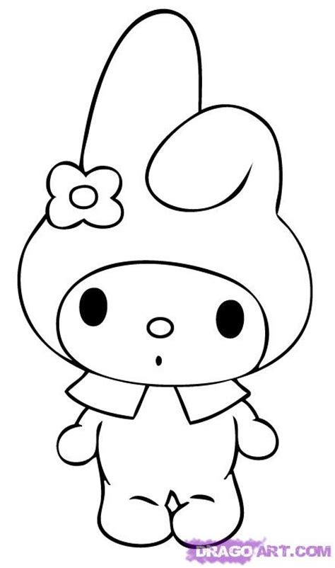 how to draw my melody step by step characters pop
