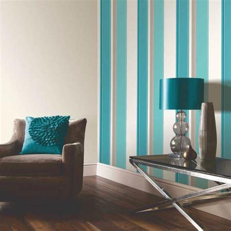 Cream And Purple Bedroom Ideas - arthouse opera carina striped wallpaper teal cream beige arthouse from i love wallpaper uk