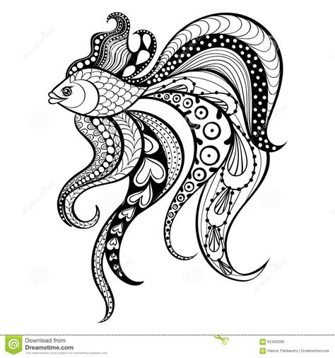 fashion coloring book for adults dress stress relief coloring book for grown ups books zentangle vector gold fish for in boho