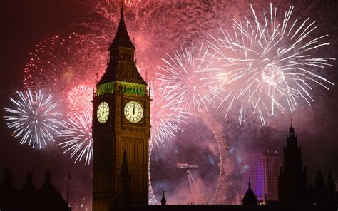 years eve fireworks big ben clock  london desktop