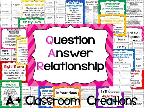 7 Relationship Questions Answered by A Plus Clasroom Creations Qar Question Answer Relationship