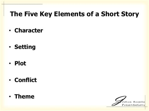 five themes of a story five important elements of a short story